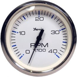 Faria Chesapeake White SS 4 Tachometer - 4,000 RPM (Diesel - Magnetic Pick-Up)