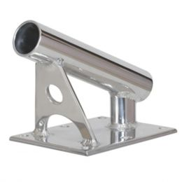 Lees MX Pro Series Fixed Angle Center Rigger Holder - 22° - 1.5 ID - Bright Silver