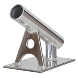 Lees MX Pro Series Fixed Angle Center Rigger Holder - 30° - 1.5 ID - Bright Silver
