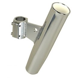 C.E. Smith Aluminum Clamp-On Rod Holder - Vertical - 1.66 OD - Fits 1-1/4 Pipe
