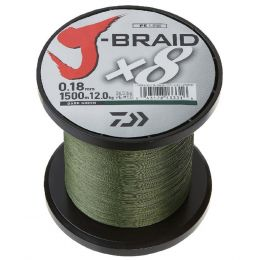 Daiwa J-Braid X4 3000 Yard Spool 80LB Test - Dark Green