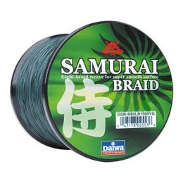 Daiwa Samurai Braid Filler Spool 300Y Green 70 lb. Test
