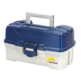 Plano 2-Tray Tackle Box w/Dual Top Access - Blue Metallic/Off White