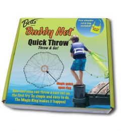Betts Buddy Quick Throw Net 4 3/8 mesh Chartreuse