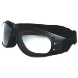 Bobster Cruiser Goggles Black Frame AntiFog Clear Lens