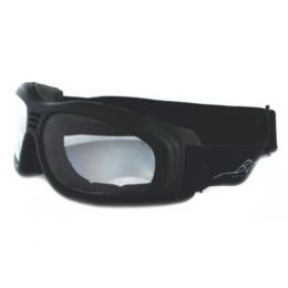 Bobster Touring II Goggle Black Frame AntiFog Clear Lenses