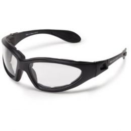Bobster GXR Sunglass Black Frame AntiFog Clear Lenses