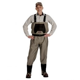 Caddis Mens Breathable Stockingfoot Waders - XXL Tan